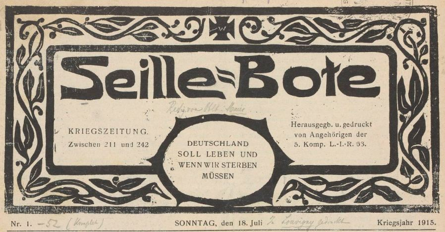 Photo (BnF / Gallica) de : Seille-Bote. [S.l.], 1915-1916. ISSN 1963-6970.