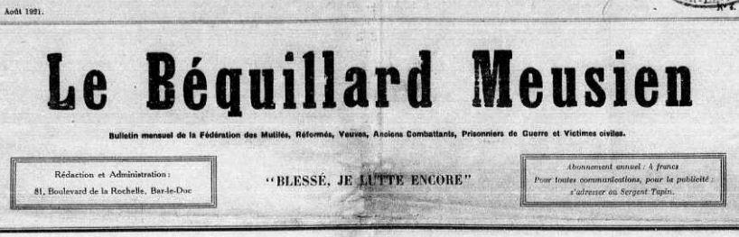 Photo (Meuse. Archives départementales) de : Le Béquillard meusien. Bar-le-Duc, 1921-1951. ISSN 2121-9222.