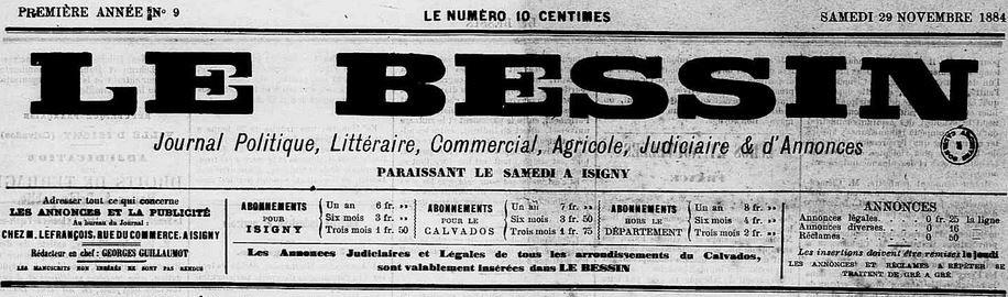Photo (Calvados. Archives départementales) de : Le Bessin. Isigny, 1884-1941. ISSN 2121-932X.