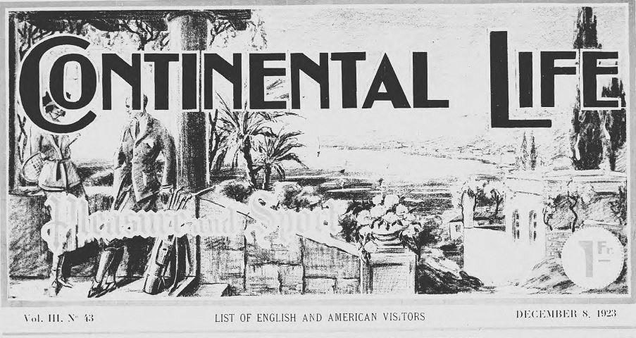 Photo (Alpes-Maritimes. Archives départementales) de : Continental life. Nice, 1922-[1928 ?]. ISSN 2074-2444.