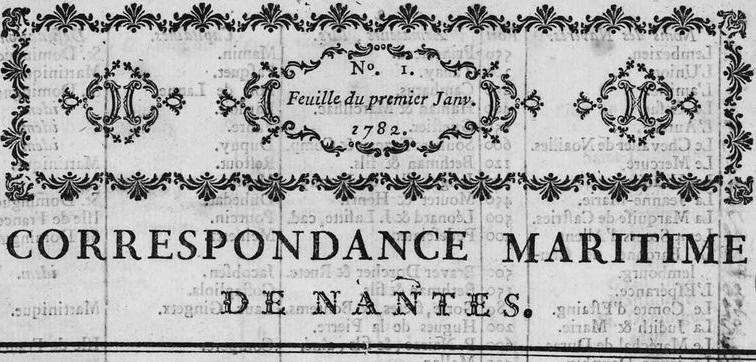 Photo (Loire-Atlantique. Archives départementales) de : Correspondance maritime de Nantes. Nantes, 1782-1785. ISSN 2124-4596.