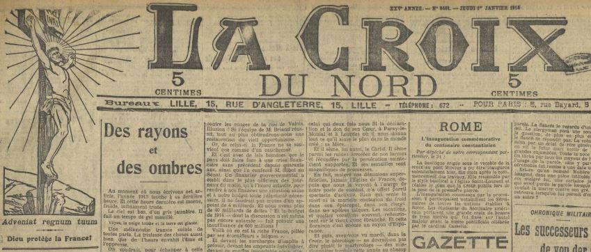 Photo (Médiathèque municipale Jean-Lévy (Lille)) de : La Croix du Nord. Lille, 1889-1968. ISSN 2125-298X.