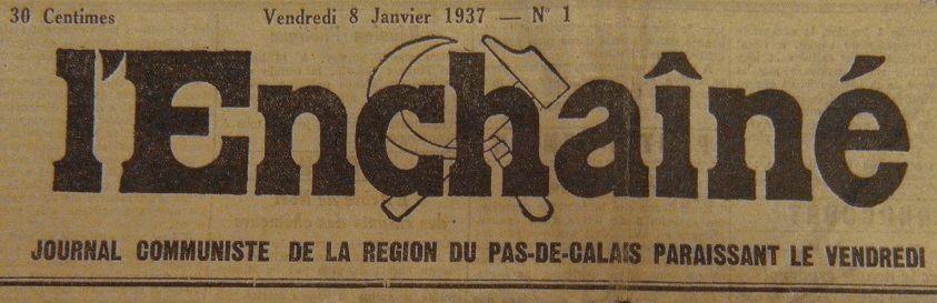 Photo (BnF / Gallica) de : L'Enchaîné. Lens, 1937-[1941 ?]. ISSN 2127-2921.