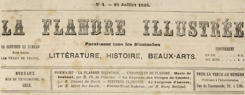 Photo (Médiathèque municipale Jean-Lévy (Lille)) de : La Flandre illustrée. Lille, 1858-1859. ISSN 2128-0975.