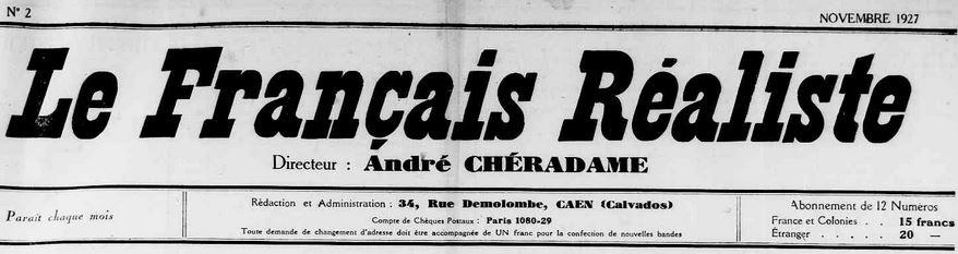 Photo (Calvados. Archives départementales) de : Le Français réaliste. Caen, 1927-1935. ISSN 2017-2087.