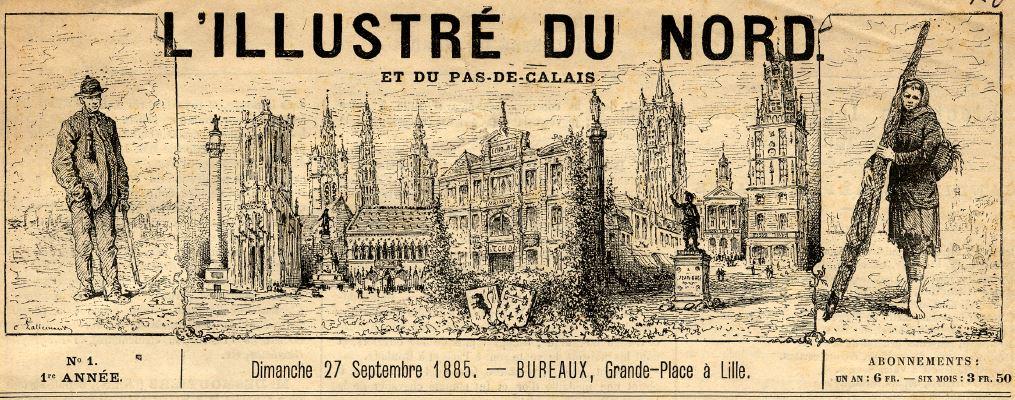 Photo (Médiathèque municipale Jean-Lévy (Lille)) de : L'Illustré du Nord et du Pas-de-Calais. Lille, 1885. ISSN 2129-2973.