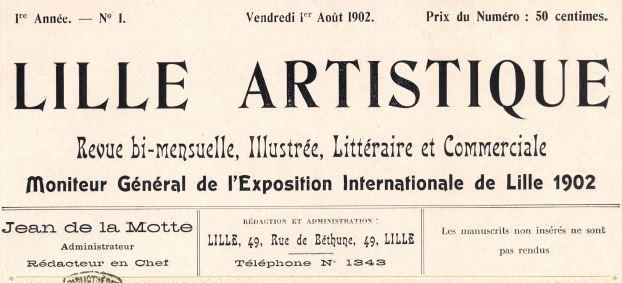 Photo (Médiathèque municipale Jean-Lévy (Lille)) de : Lille artistique. Lille, 1902. ISSN 2131-4314.