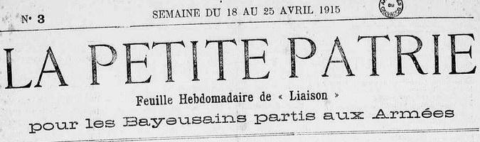 Photo (Calvados. Archives départementales) de : La Petite patrie. Bayeux, 1915-1923. ISSN 2134-5929.