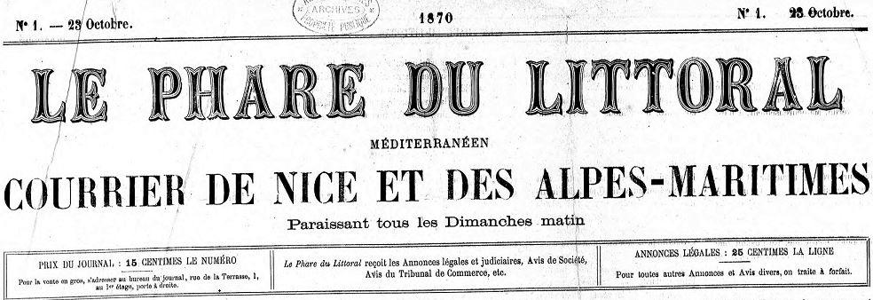 Photo (Alpes-Maritimes. Archives départementales) de : Le Phare du littoral méditerranéen. Antibes, 1865-1938. ISSN 2021-1430.