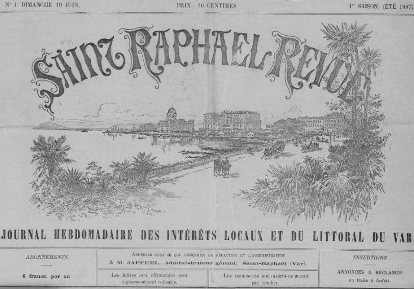 Photo (Var. Archives départementales) de : Saint-Raphaël-revue. Saint-Raphaël, 1887-1929. ISSN 2137-7081.