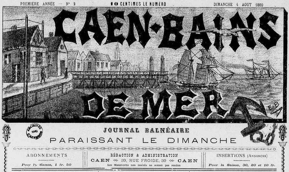 Photo (Calvados. Archives départementales) de : Caen-Bains de mer. Caen, 1889-1892. ISSN 2123-2695.