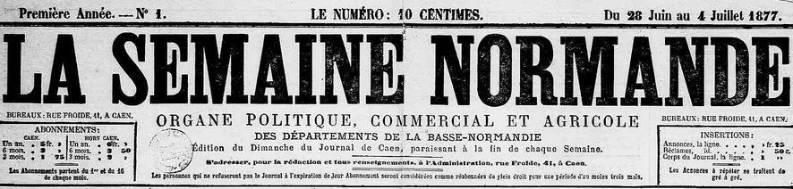 Photo (Calvados. Archives départementales) de : La Semaine normande. Caen, 1877-1943. ISSN 2137-9645.