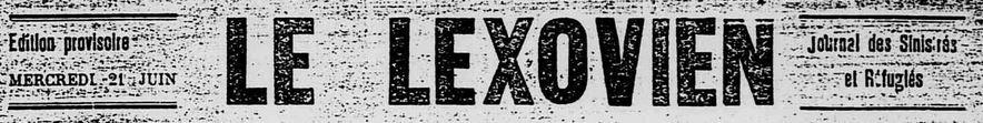 Photo (Calvados. Archives départementales) de : Le Lexovien. Éd. provisoire. Lisieux, 1944. ISSN 2497-8108.