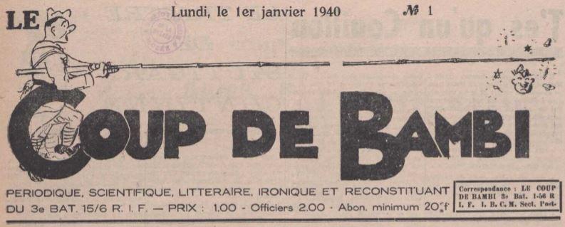 Photo (La Contemporaine. Bibliothèque, archives, musée des mondes contemporains (Nanterre)) de : Le Coup de Bambi. [S.l.], 1940. ISSN 1962-0292.