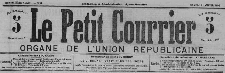 Photo (Maine-et-Loire. Archives départementales) de : Le Petit courrier. Angers, 1883-1944. ISSN 2134-0676.