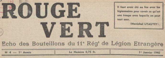Photo (La Contemporaine. Bibliothèque, archives, musée des mondes contemporains (Nanterre)) de : Rouge vert. [S.l.], 1939-1940. ISSN 1963-6423.