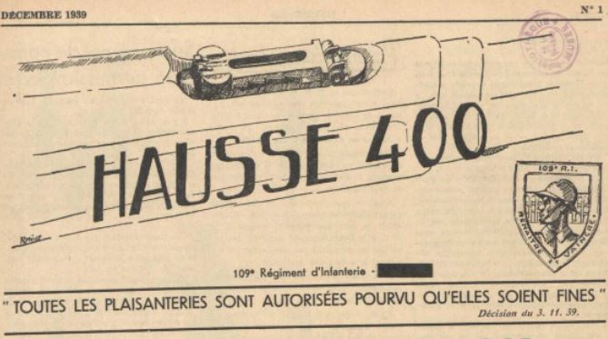 Photo (La Contemporaine. Bibliothèque, archives, musée des mondes contemporains (Nanterre)) de : Hausse 400. [S.l.], 1940. ISSN 1963-6563.