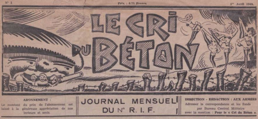 Photo (La Contemporaine. Bibliothèque, archives, musée des mondes contemporains (Nanterre)) de : Le Cri du béton. [s.l.], 1940. ISSN 1963-6253.