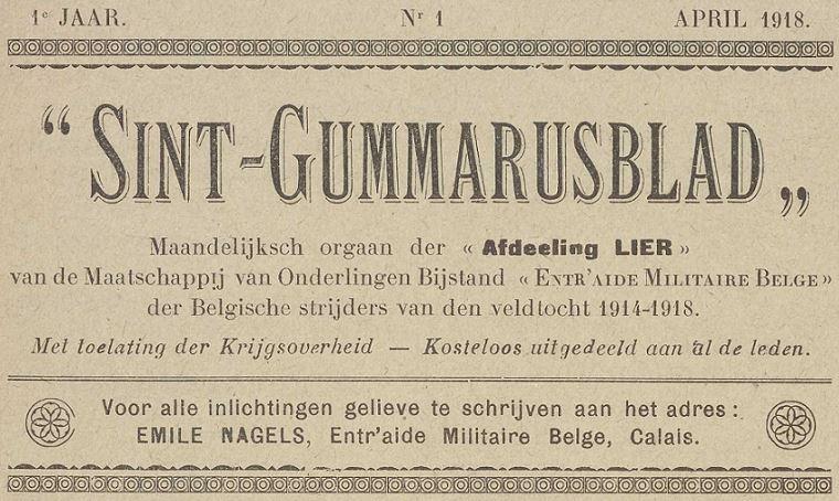 Photo (Vlaams instituut voor archivering) de : Sint-Gummarusblad. Calais, 1918. ISSN 2494-4505.