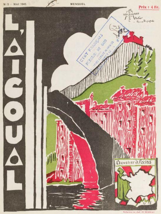 Photo (BnF / Gallica) de : L'Aigoual. Avèze, 1941-[1943 ?]. ISSN 2120-4926.
