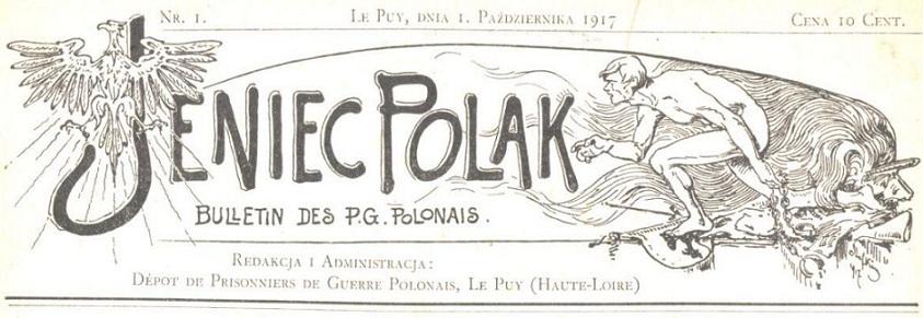Photo (Biblioteka narodowa (Pologne)) de : Jeniec Polak. Le Puy, 1917-1919. ISSN 2130-0461.