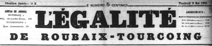 Photo (Médiathèque municipale (Roubaix, Nord)) de : L'Égalité de Roubaix-Tourcoing. Roubaix: L'Égalité de Roubaix-Tourcoing, Tourcoing: L'Égalité de Roubaix-Tourcoing, 1895-1944. ISSN 1141-1546.