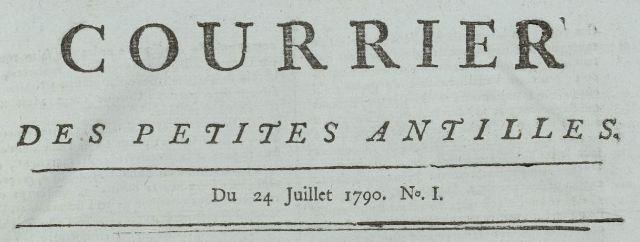 Photo (Bibliothèque municipale (Nantes)) de : Courrier des Petites Antilles. Roseau, 1790-[1791 ?]. ISSN 2521-2028.