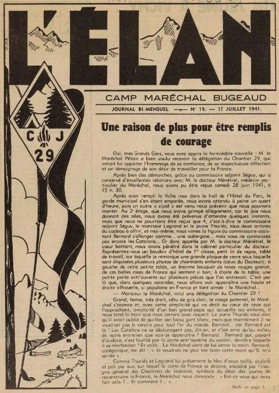 Photo (BnF / Gallica) de : L'Élan. Le Carcanet, [1941 ?-1944 ?]. ISSN 2127-1313.