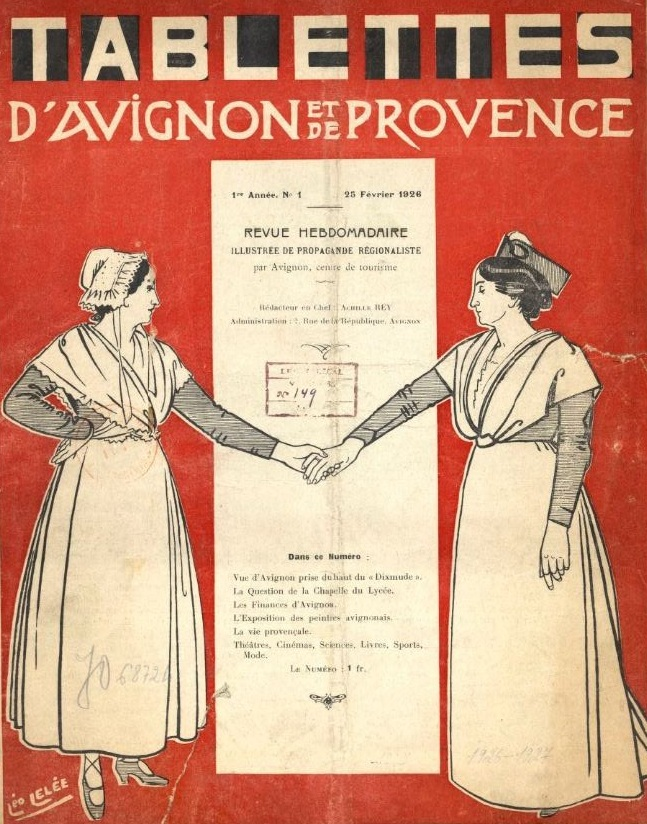 Photo (BnF / Gallica) de : Les Tablettes d'Avignon et de Provence. Avignon, 1926-1939. ISSN 1774-2277.