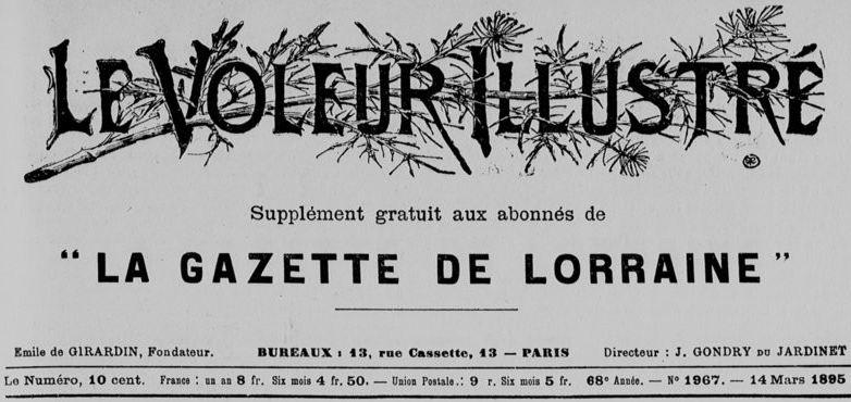 Photo (BnF / Gallica) de : Le Voleur illustré. Paris, 1895-1907. ISSN 2555-4174.