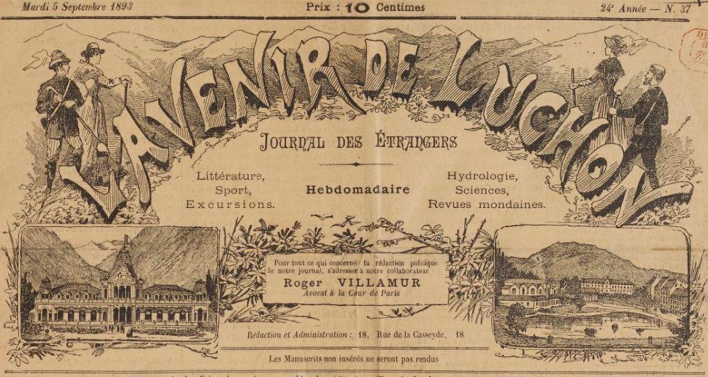Photo (BnF / Gallica) de : L'Avenir de Luchon. Luchon, 1871-[1937 ?]. ISSN 2121-5014.