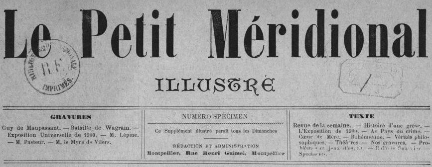 Photo (BnF / Gallica) de : Le Petit Méridional illustré. Montpellier, [1893]. ISSN 2555-5758.