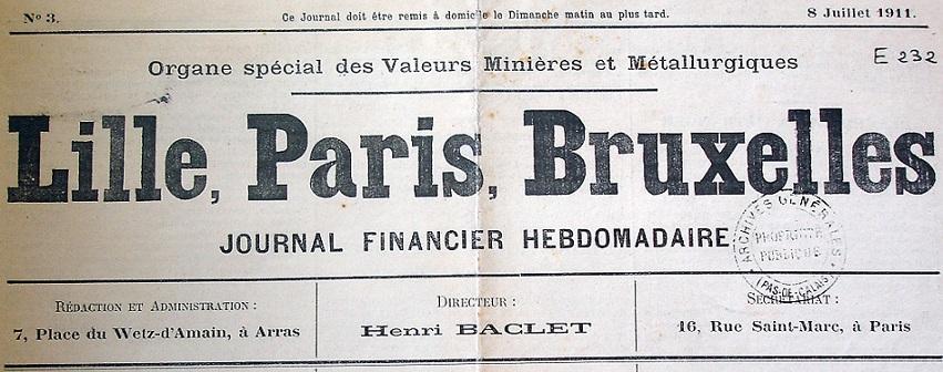 Photo (Société des amis de Panckoucke) de : Lille, Paris, Bruxelles. Arras, [1911 ?-1912 ?]. ISSN 2131-4357.