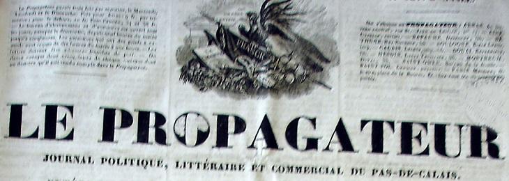 Photo (Société des amis de Panckoucke) de : Le Propagateur. Arras, 1828-[1830 ?]. ISSN 2135-5843.