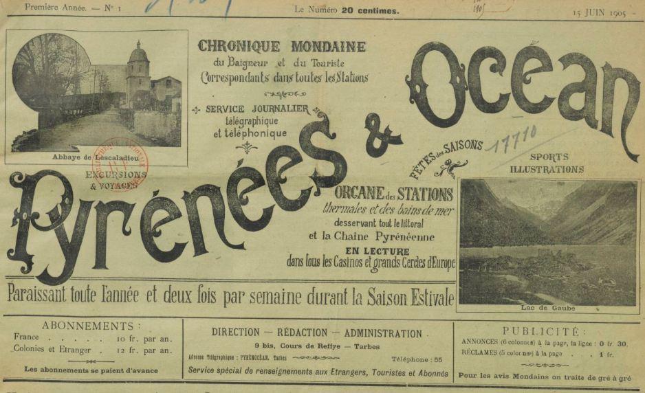 Photo (BnF / Gallica) de : Pyrénées et océan. Tarbes, 1905-1931. ISSN 2015-2477.