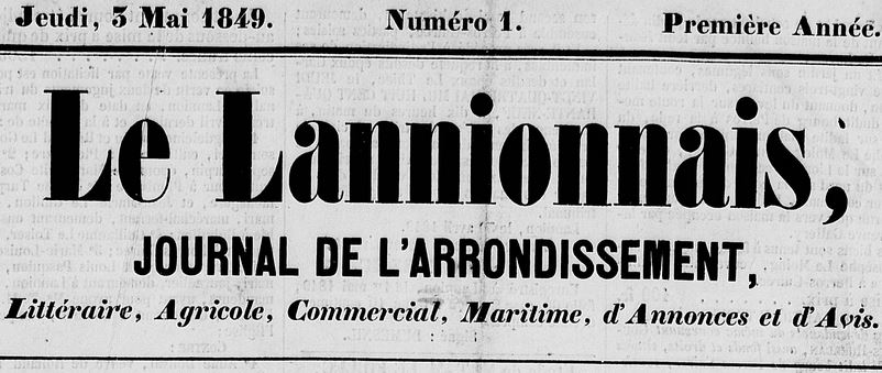 Photo (Côtes-d'Armor. Archives départementales) de : Le Lannionnais. Lannion : Le Goffic, 1849-1944. ISSN 1963-7349.