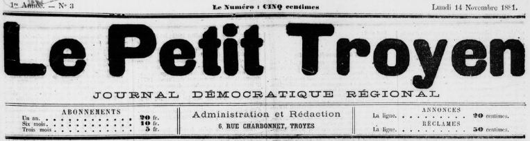 Photo (BnF / Gallica) de : Le Petit Troyen. Troyes, 1881-1944. ISSN 2263-8873.