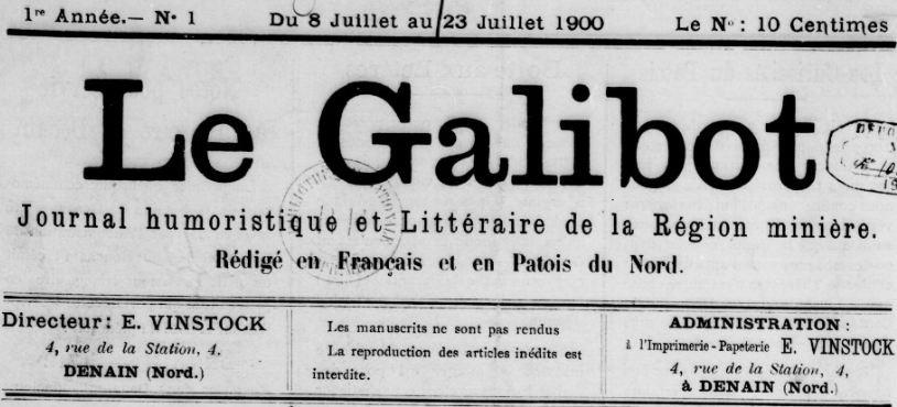 Photo (BnF / Gallica) de : Le Galibot. Denain, 1900-[1901?]. ISSN 2128-4431.