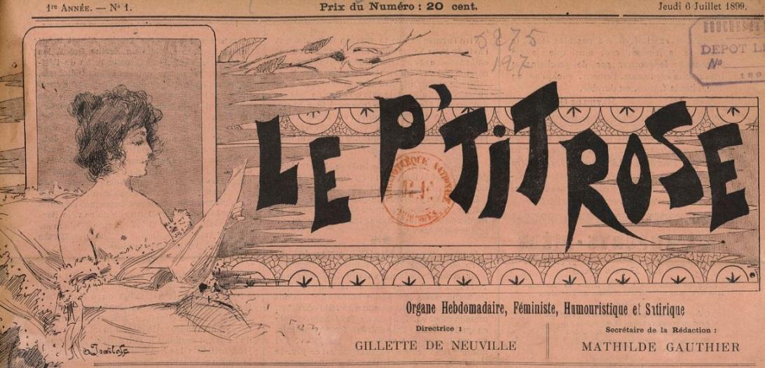 Photo (BnF / Gallica) de : Le P'tit rose. Marseille, 1899-[1900 ?]. ISSN 2133-4676.