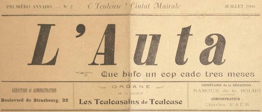 Photo (BnF / Gallica) de : L'Auta. Toulouse, 1906-. ISSN 2113-3700.