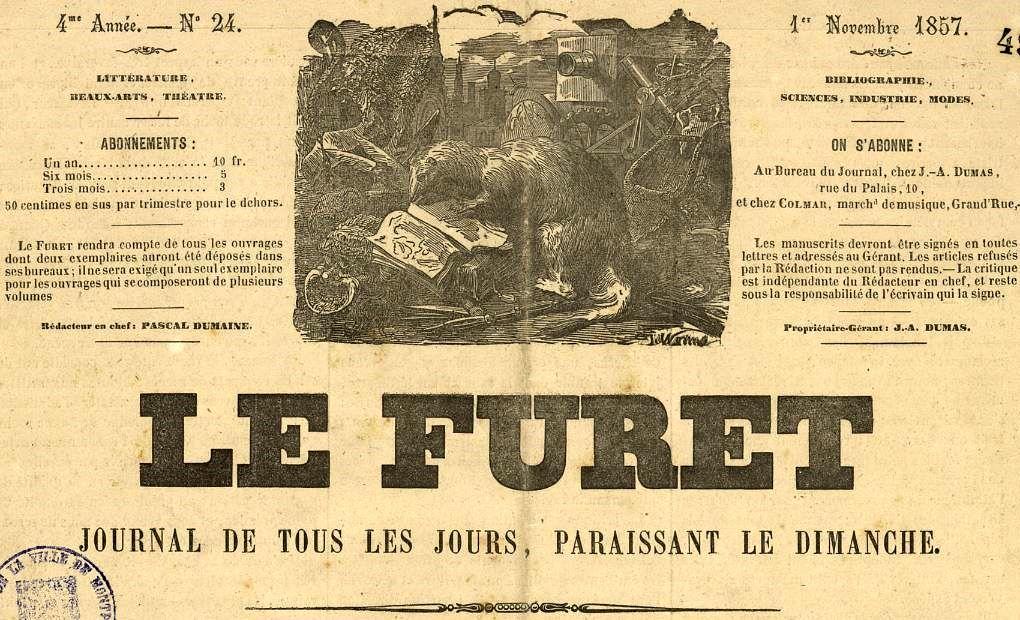 Photo (Montpellier. Bibliothèques municipales) de : Le Furet. Montpellier, 1854-[1864 ?]. ISSN 2128-4059.