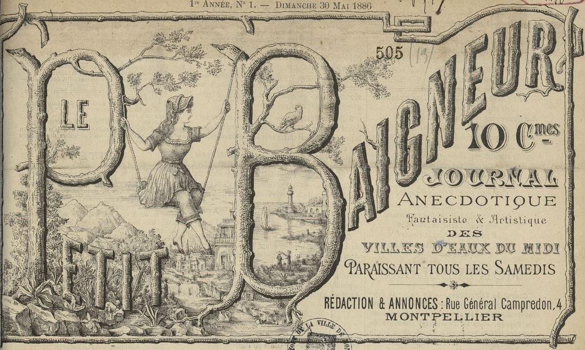 Photo (Montpellier. Bibliothèques municipales) de : Le Petit baigneur. Montpellier, 1886-[1899 ?]. ISSN 2133-9465.