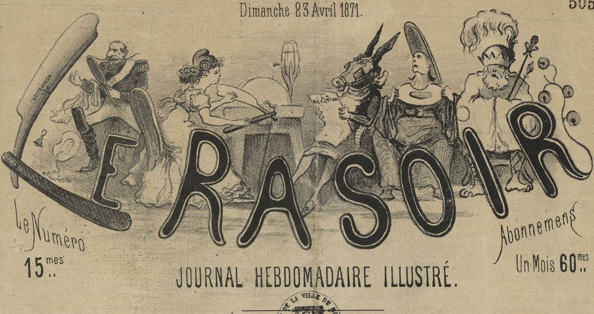 Photo (Montpellier. Bibliothèques municipales) de : Le Rasoir. Montpellier, 1871. ISSN 2135-9873.