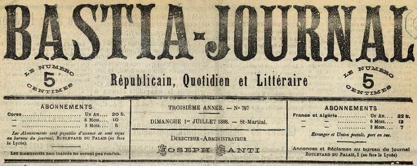Photo (BnF / Gallica) de : Bastia-Journal. Bastia, 1886-1943]. ISSN 2121-8277.