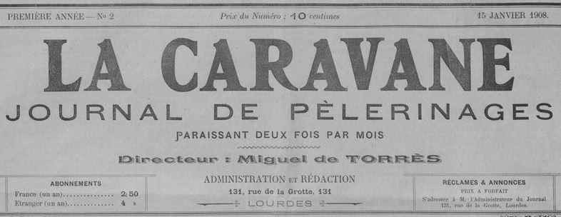 Photo (BnF / Gallica) de : La Caravane. Lourdes, 1908-1913. ISSN 2107-7630.