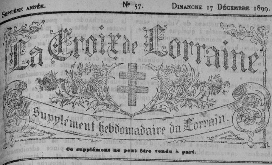 Photo (Metz. Bibliothèques-médiathèques) de : La Croix de Lorraine. Metz, 1892-1914. ISSN 2015-3422.