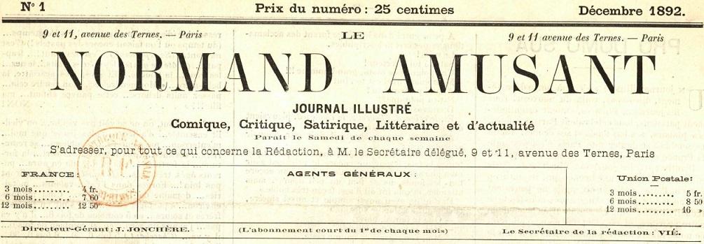 Photo (BnF / Gallica) de : Le Normand amusant. Paris, 1892-1894. ISSN 2132-9354.