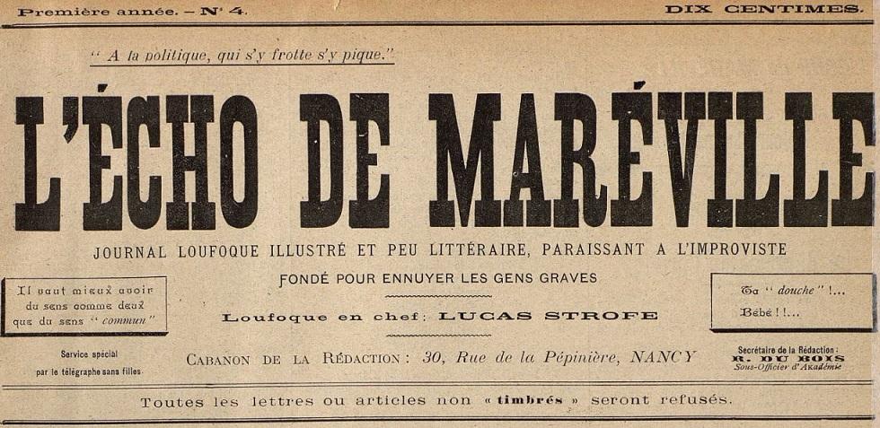 Photo (Bibliothèques de Nancy) de : L'Écho de Maréville. Nancy, 1899-[1925 ?]. ISSN 1960-4866.