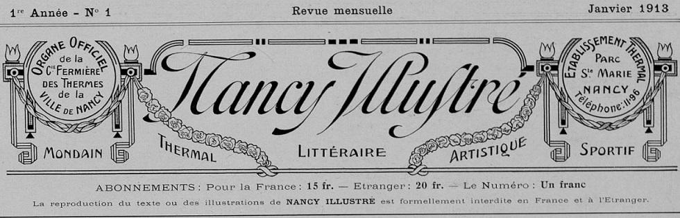 Photo (Bibliothèques de Nancy) de : Nancy illustré. Nancy, 1913-1914. ISSN 2100-8086.