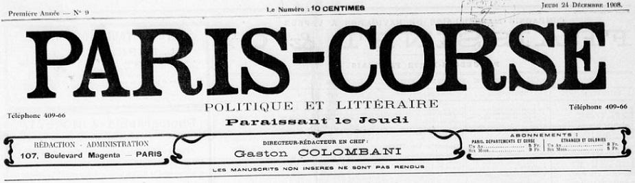 Photo (BnF / Gallica) de : Paris-Corse. Paris, 1908-[1925 ?]. ISSN 2133-5443.